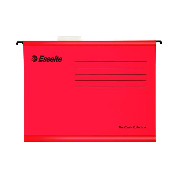 Esselte Classic Foolscap Red Suspension File (25 Pack) 90336