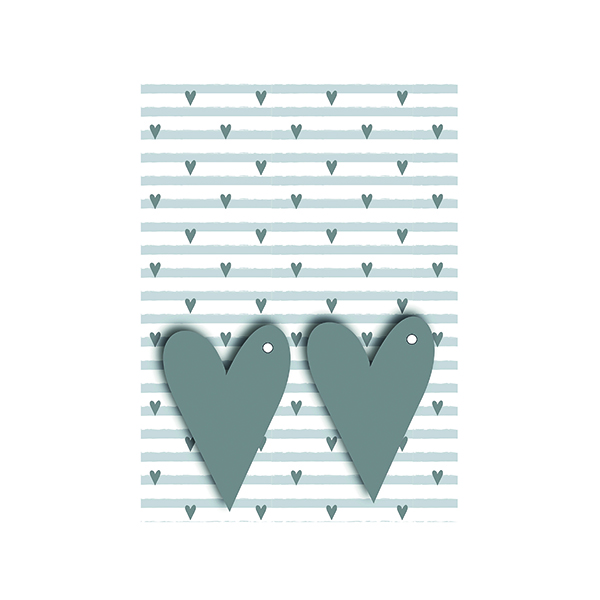 Paper Grey Hearts Gift Wrap and Tags (12 Pack) 27249-2S2T
