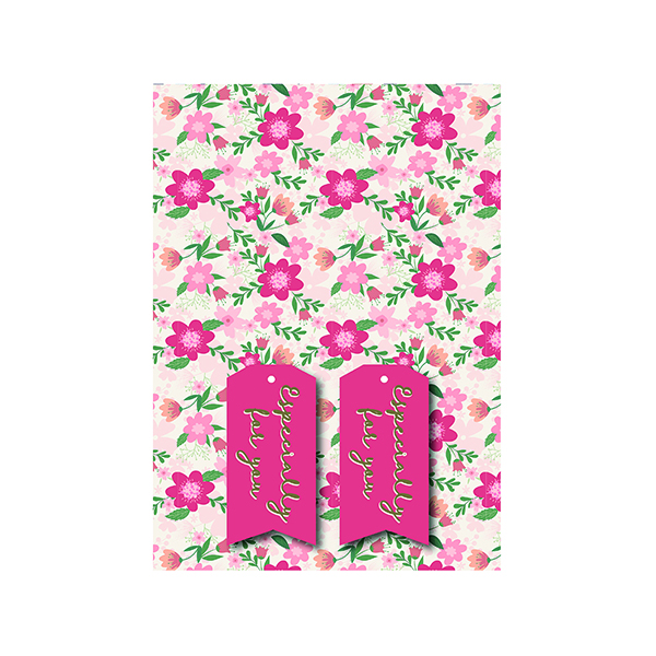 Paper Pink Floral Gift Wrap and Tags (12 Pack) 27243-2S2T