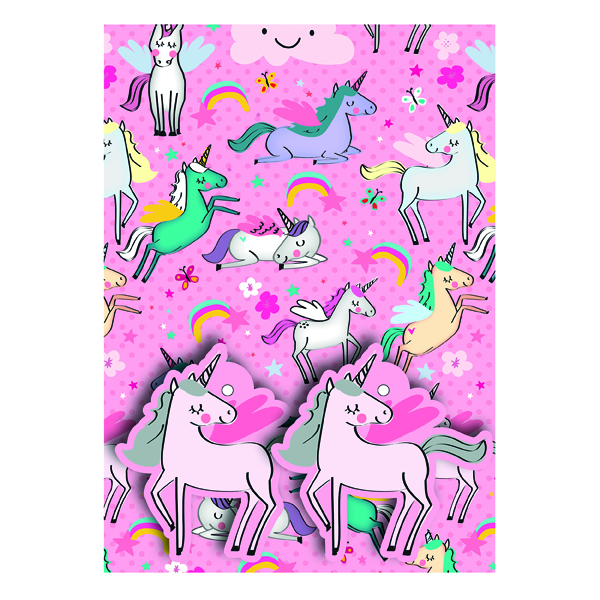 Paper Pink Unicorns Gift Wrap and Tags (12 Pack) 27237-2S2T