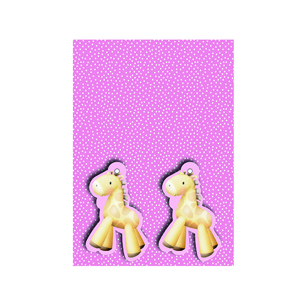 Paper Pink Baby Giraffe Gift Wrap and Tags (12 Pack) 27231-2S2T