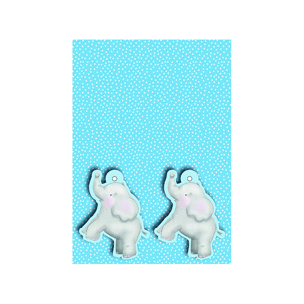 Paper Blue Baby Elephant Gift Wrap and Tags (12 Pack) 27228-2S2T