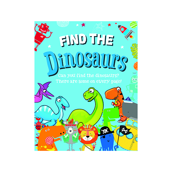 Unspecified Find the Dinosaurs Activity Book (12 Pack) 27072-DINO