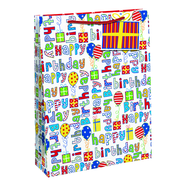 Paper Happy Birthday Gift Bag Medium (6 Pack) 26955-3