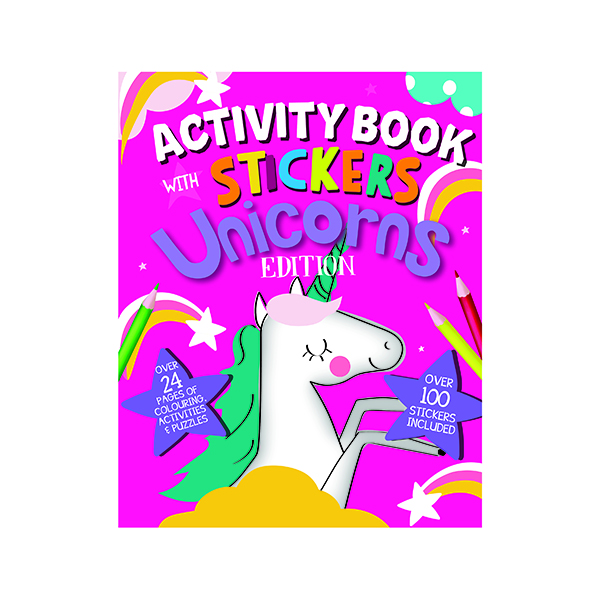 Unspecified Unicorn Activity Book with Stickers (12 Pack) 26079-UNIC