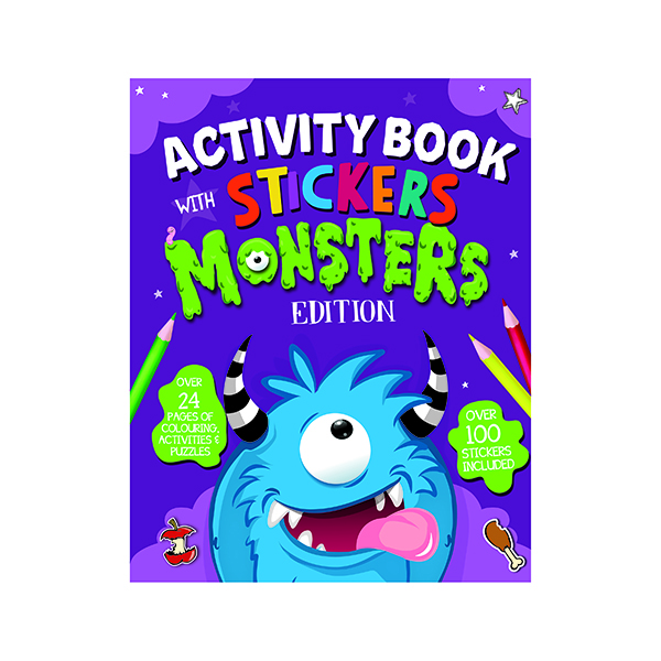 Unspecified Monster Activity Book with Stickers (12 Pack) 26073-MONS