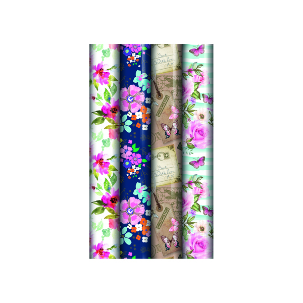 Paper Assorted Floral Gift Wrap (39 Pack) 24582-GW