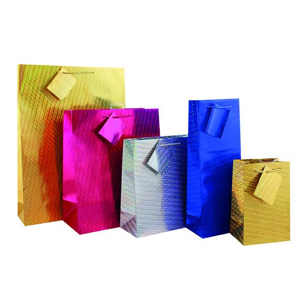 Paper Holographic Bottle Gift Bag (12 Pack) FUNK4.