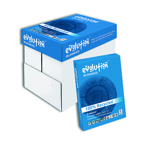 Evolution White A4 Business Recycled Paper 80gsm (2500 Pack) EVBU2180