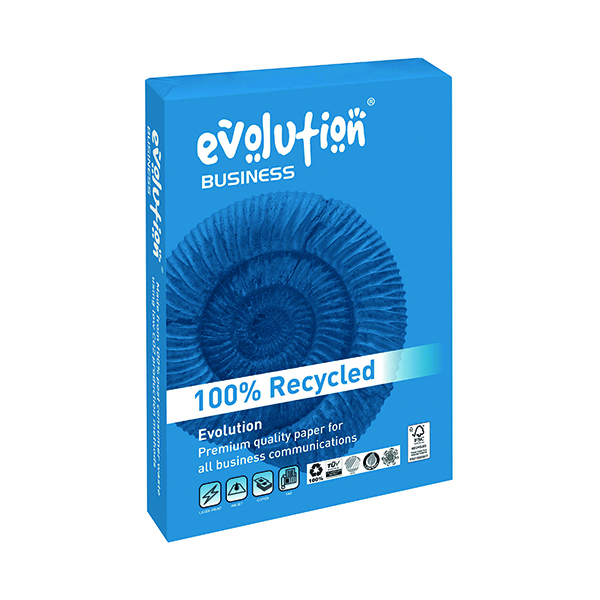 White 90gsm Evolution White A4 Business Recycled Paper 90gsm (500 Pack) EVBU2190