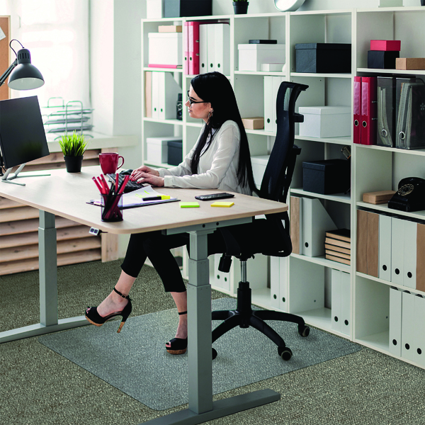 For Hard Floors Floortex Polycarbonate Carpet Chair Mat 1520x1210mm 1115223ER