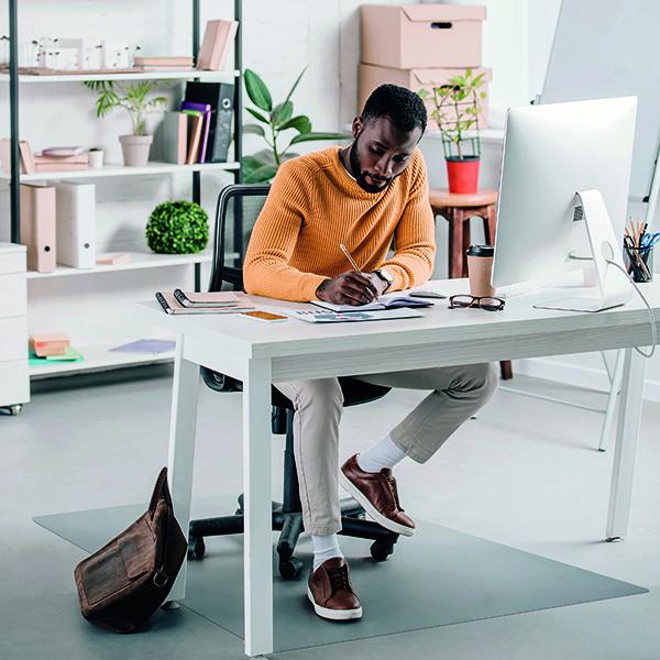 For Hard Floors Ecotex Evolutionmat Carpet Chair Mat Rectangular 1200x900mm FL74151