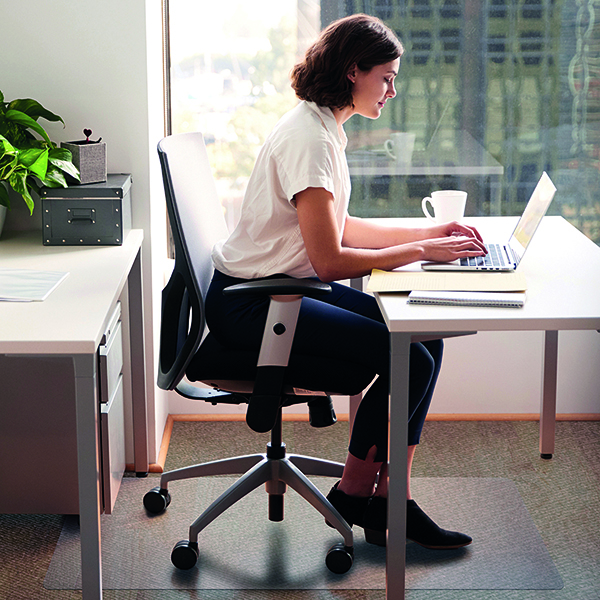 For Hard Floors Cleartex Chair Mat Hard Floor 1200x750mm Clear FL74191