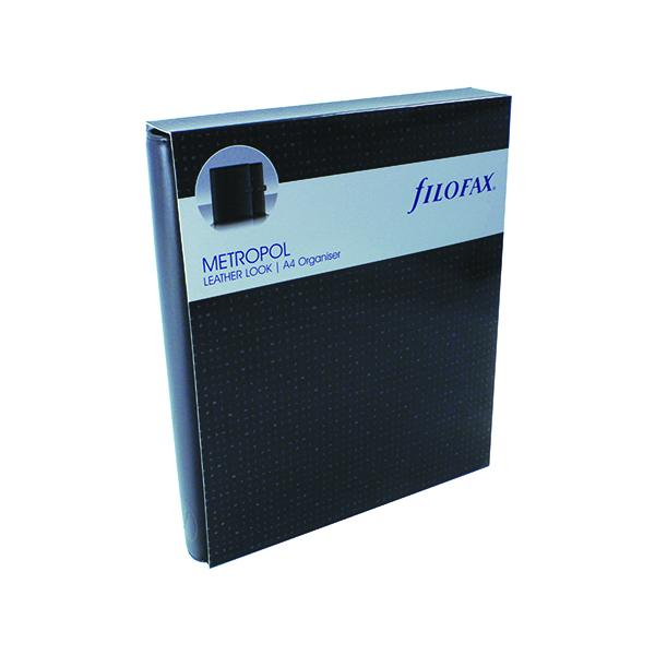 Personal Organisers Filofax Metropol Organiser A4 Black 026921