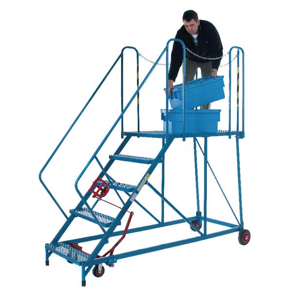 Steps/Ladders Fort Easy Powder Coated 5 Tread Slope Platform Steps MS9105M