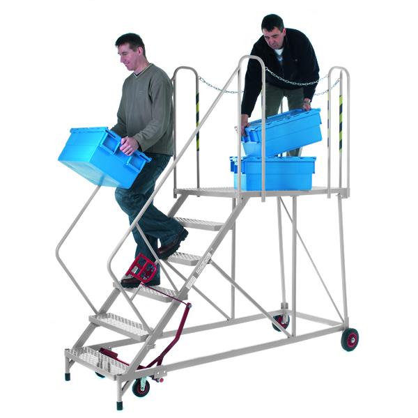 Steps/Ladders Fort Easy Slope Galvanised 6 Tread Platform Steps MS9106G