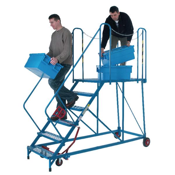 Steps/Ladders Fort Easy Powder Coated 6 Tread Slope Platform Steps MS9106M