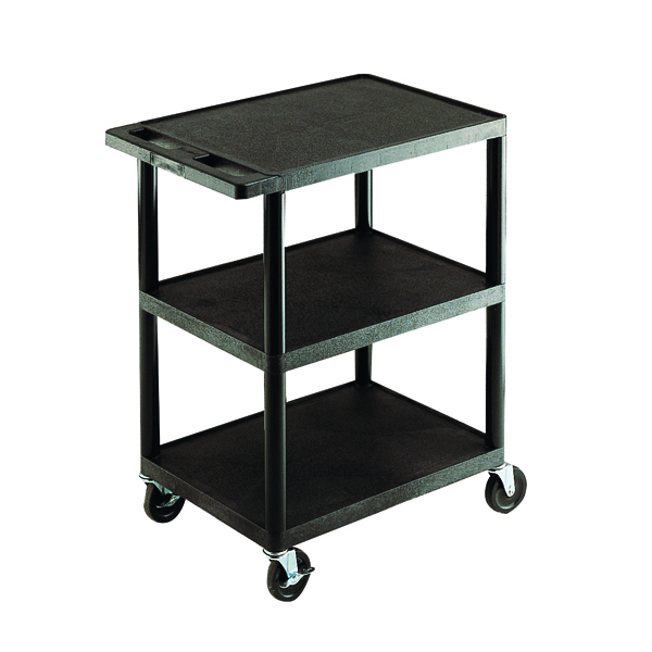 Trolley GPC 3 Shelf Service Trolley Black GI341L