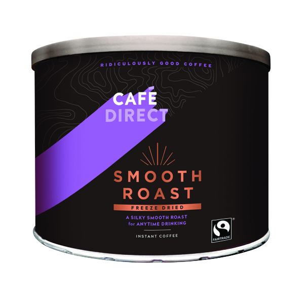 Coffee Cafedirect Smooth Roast Freeze Dried Coffee Tin 500g TWI4101
