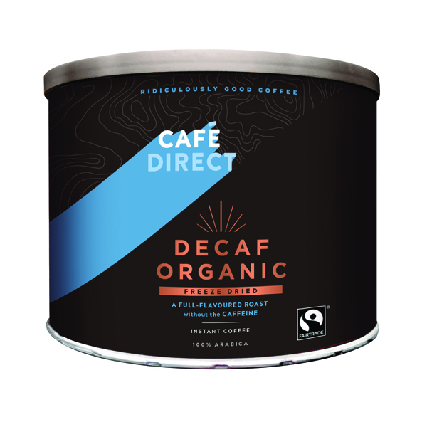 Coffee Cafedirect Decaff Organic Freeze Dried Coffee Tin 500g TW141002