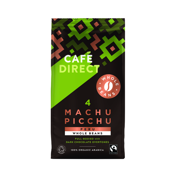 Coffee Cafedirect Machu Picchu Whole Coffee Beans 227g FCR1004