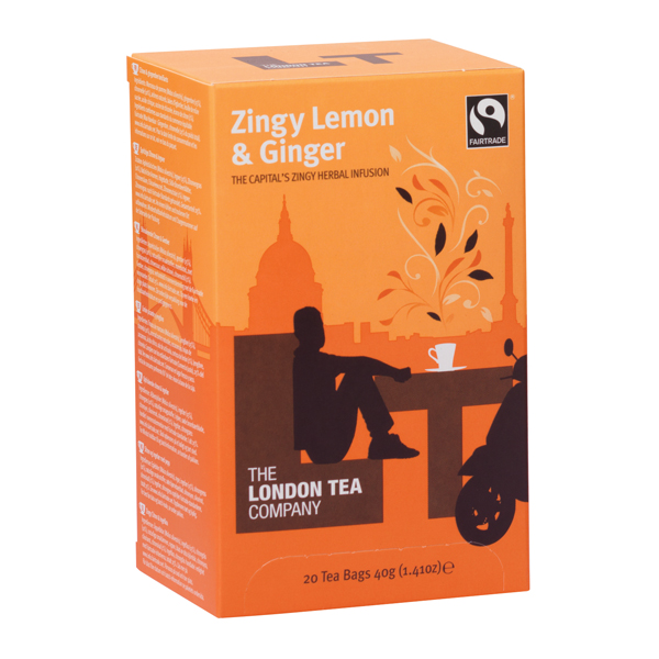 Tea London Tea Zingy Lemon and Ginger Tea (20 Pack) FLT0003