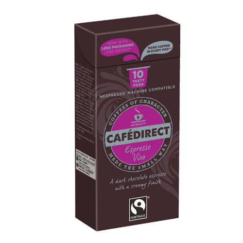 Coffee Cafedirect Nespresso Compatible Coffee Pods Vivo (100 Pack) FCR0035