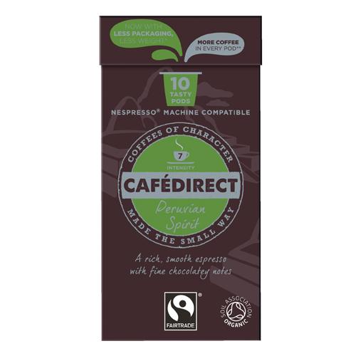Coffee Cafedirect Nespresso Compatible Pods Peruvian Spirit (100 Pack) FCR0034