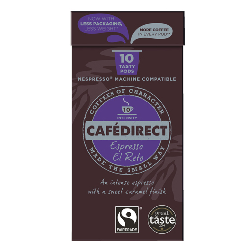 Coffee Cafedirect Nespresso Compatible Pods El Reto (100 Pack) FCR0037