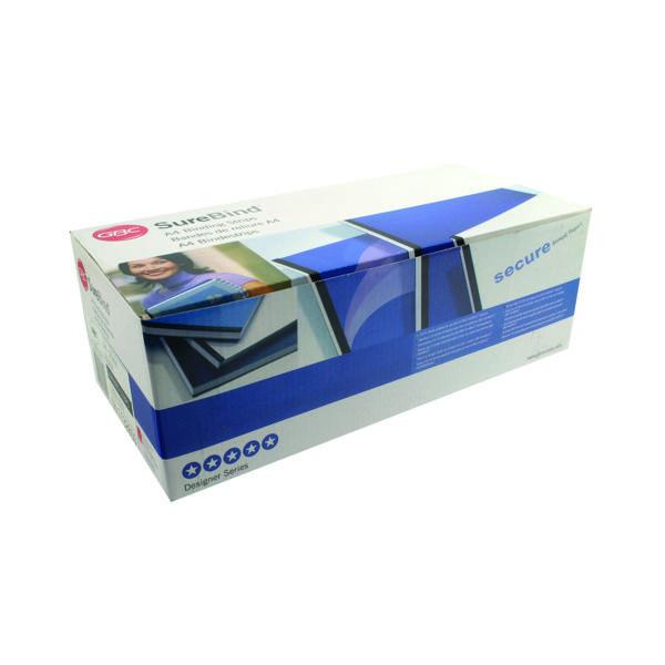 GBC SureBind Secure Binding Strips 25mm A4 Black (100 Pack) 1132850