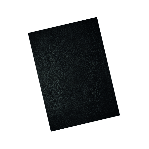 Unspecified GBC LeatherGrain 250gsm A4 Black Binding Covers (100 Pack) CE040010