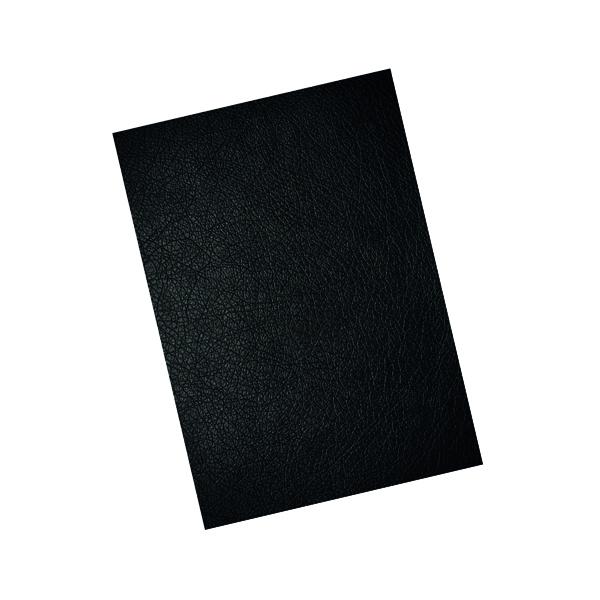 GBC LeatherGrain 250gsm A4 Black Binding Covers (100 Pack) CE040010