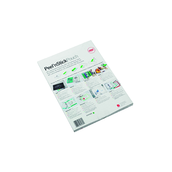A4 GBC Gloss Peel and Stick A4 Laminating Pouch 200 Micron (100 Pack) 41666E
