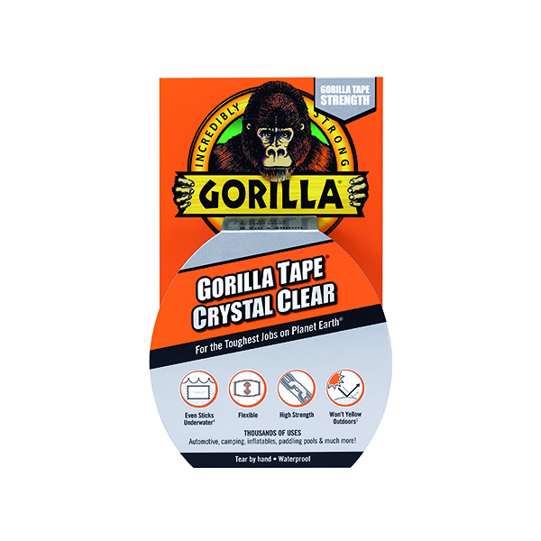 50mm Gorilla Tape Crystal Clear 8.2m 3044701