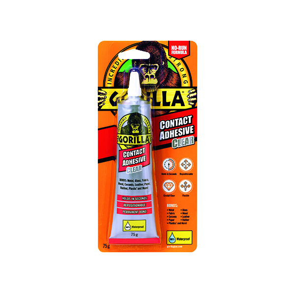 Strong Glues Gorilla Contact Adhesive Clear 75g 2144001