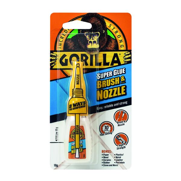 Gorilla Super Glue Brush and Nozzle 10g 100669