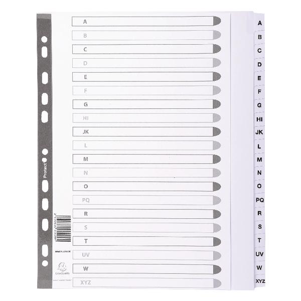 Exacompta Guildhall Mylar Index A-Z  A4 Maxi White MWDA-ZZ-EW