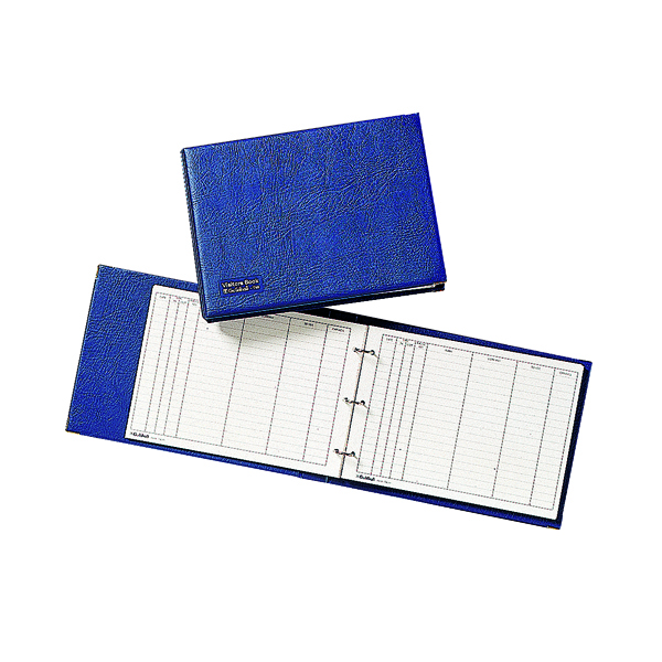 Exacompta Guildhall Loose-Leaf Visitors Book Landscape Blue T40