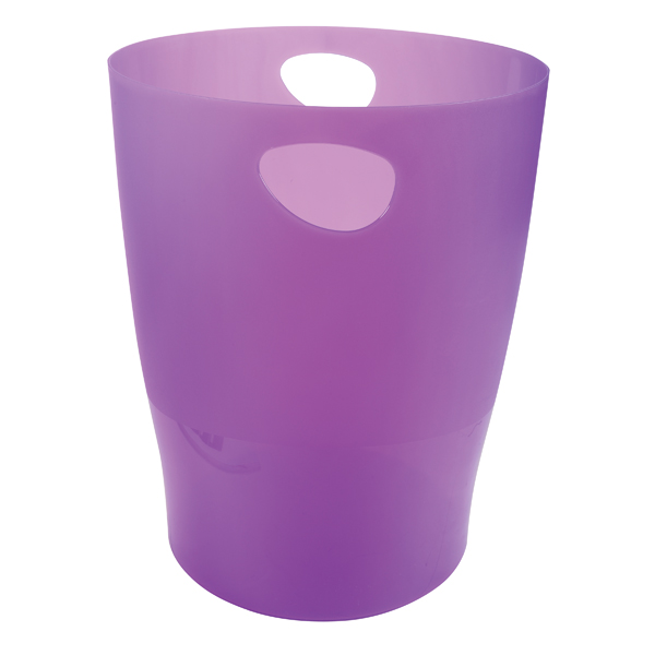 Exacompta Iderama Waste Bin Purple 45319D