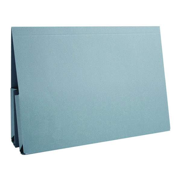 Legal Filing Exacompta Guildhall Legal Double Pocket Wallet Foolscap Blue (25 Pack) 214-BLU