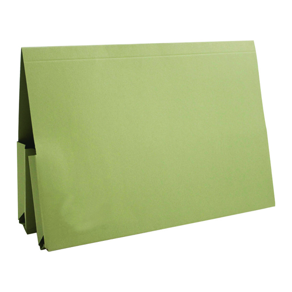 Exacompta Guildhall Legal Double Pocket Wallet Foolscap Green (25 Pack) 214-GRN
