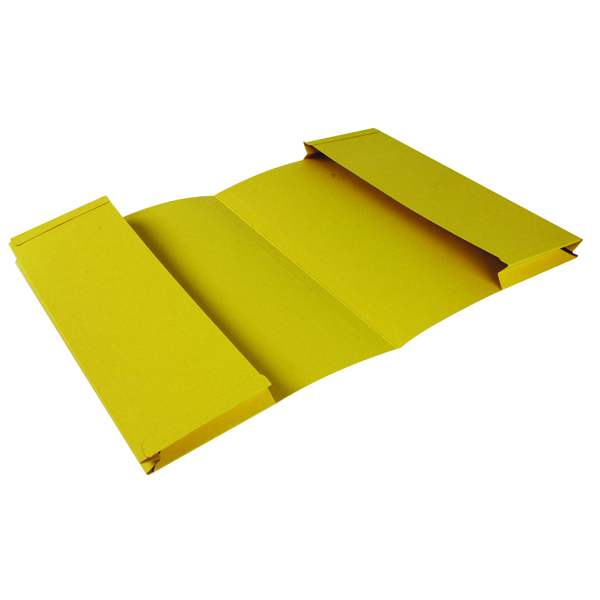 Exacompta Guildhall Legal Double Pocket Wallet Foolscap Yellow (25 Pack) 214-YLW
