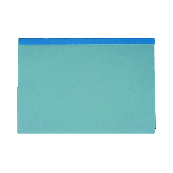 Exacompta Guildhall Reinforced Legal Double Pocket Wallet Blue (25 Pack) 218-BLU