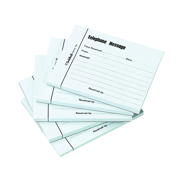 Exacompta Guildhall Telephone Message Pad 100 Sheet 127x102mm (5 Pack) 1571