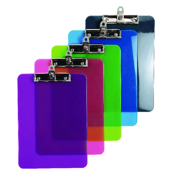 Iderama A4 Clipboard Assorted (10 Pack) 12690E