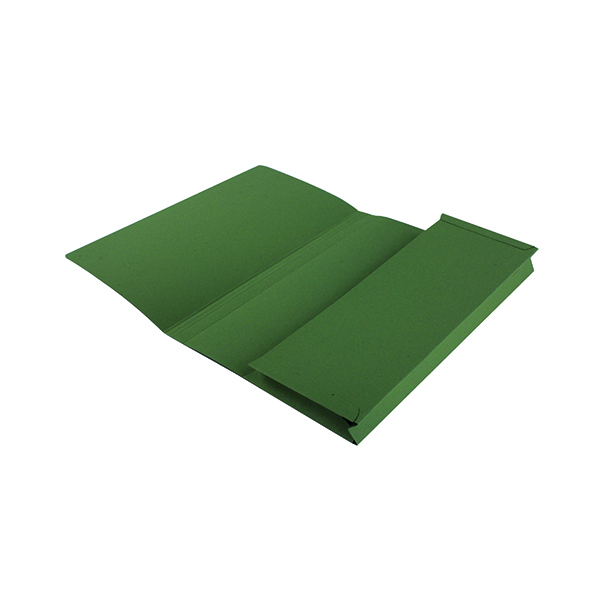 Exacompta Guildhall Full Flap Pocket Wallet Foolscap Green (50 Pack) PW2-GRN
