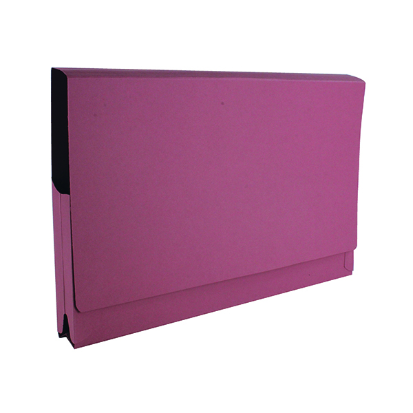 Foolscap Exacompta Guildhall Full Flap Pocket Wallet Foolscap Pink (50 Pack) PW2-PNK