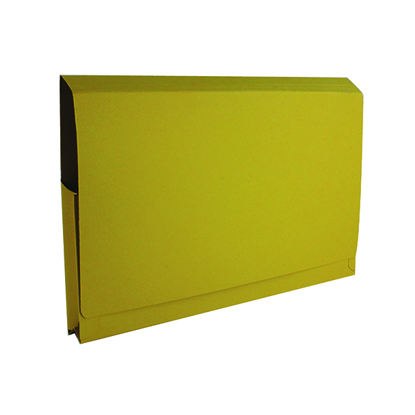 Exacompta Guildhall Full Flap Pocket Wallet Foolscap Yellow (50 Pack) PW2-YLW