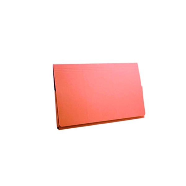 Foolscap Exacompta Guildhall Full Flap Pocket Wallet Foolscap Orange (50 Pack) PW2-ORG