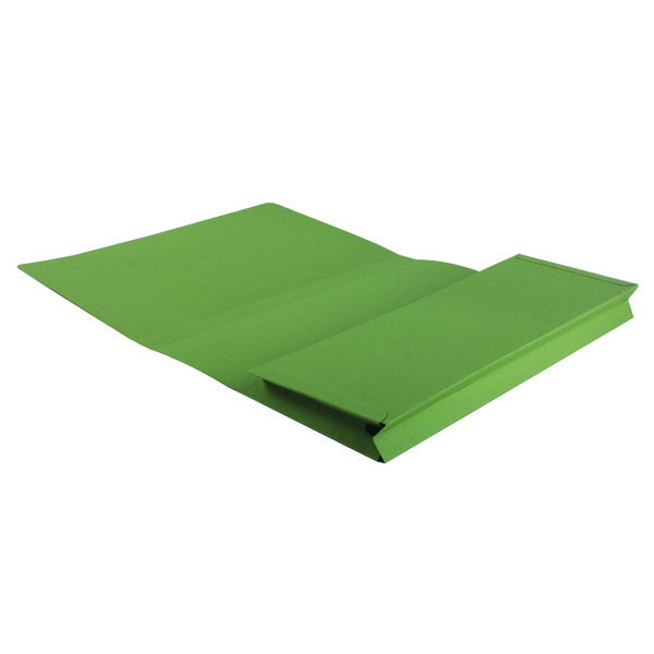 Exacompta Guildhall Brief Size Pocket Wallet 14x10in Green (50 Pack) PW3-GRN